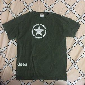 JEEP T-Shirt Green Size Medium